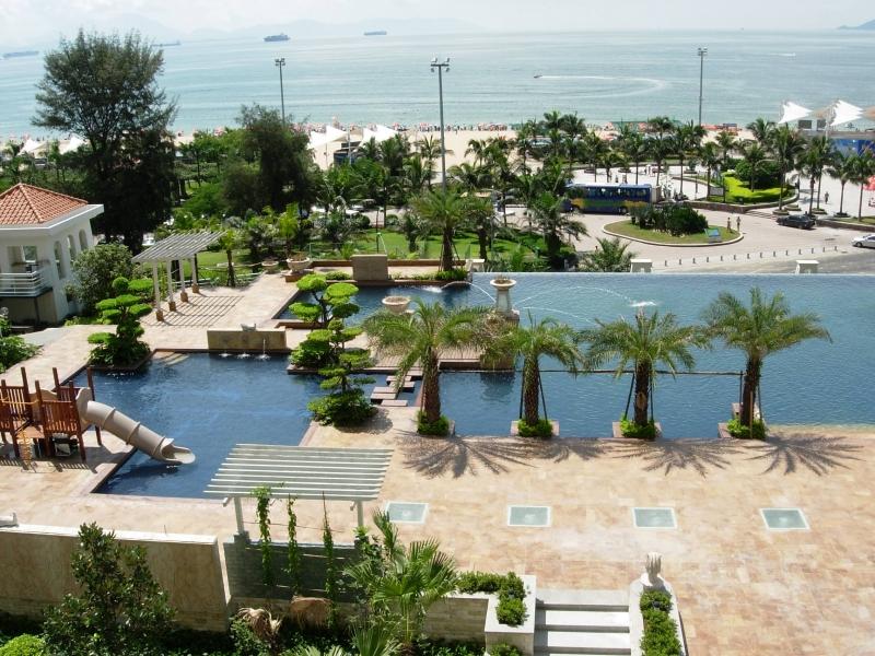 海世界大梅沙海边豪华两房出租 正对大海离海滩二十米!