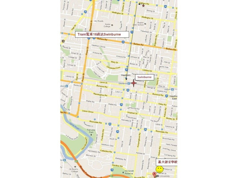 墨尔本city地图